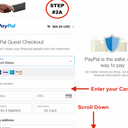 STEP #2 -Pay by CC Card ONLY